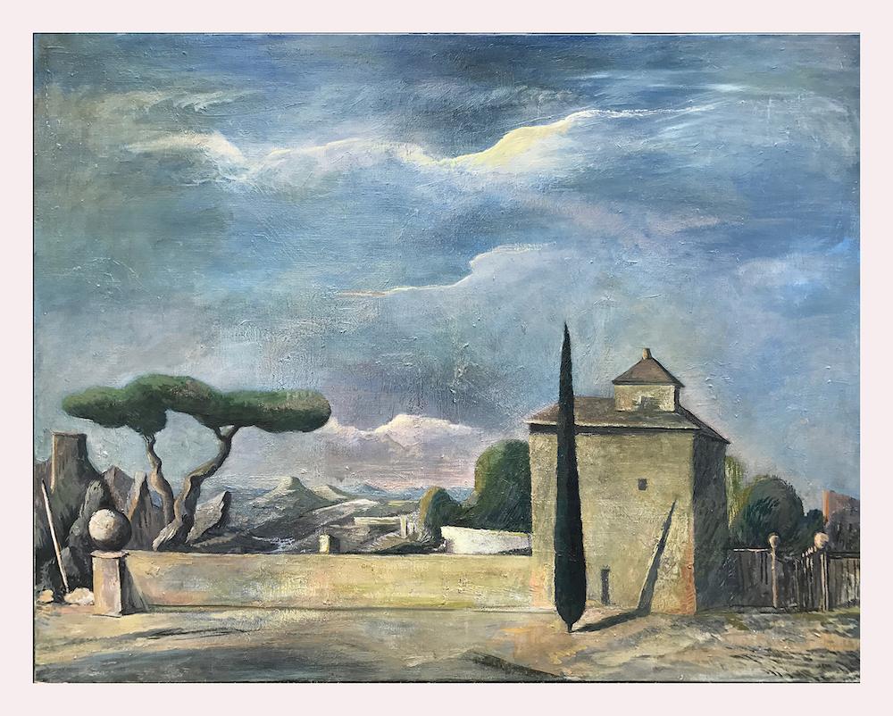 Paysage Huile sur toile - Rémy Aron( 146x114cm)