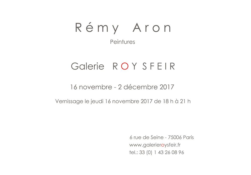Remi Aron Invitation Galerie Roy Sfeir